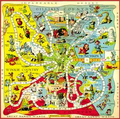 Hungry Tiger Talk: Map of Oz Monday - the 1921 Game Board Map