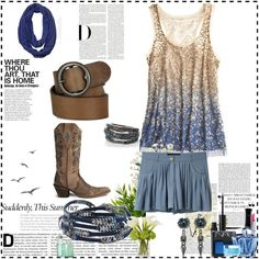 Summer Texas Outfit, created by texas-mojo on Polyvore, my first time to play with this thing, I'm sure it's not great but it was practice
