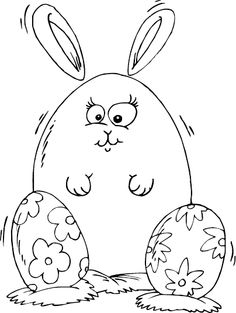 roly poly rabbit coloring page