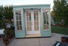 Shippable Arts Studio, Shed, or Greenhouse, vintage storefront design by LittleMansionsDesign on Etsy