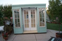 Shippable Arts Studio, Shed, or Greenhouse, vintage storefront design by LittleMansionsDesign on Etsy