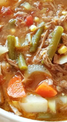 Hearty Old Fashioned Vegetable Soup ~ Besides being delicious, it is preservative-free and gluten-free!