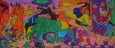 PICASSO (1 sessió) Aquest treball és ideal per celebrar el dia de la pau. Només hem d'omplir de color l'obra.
