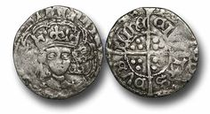 Henry VII (1485-1509), Groat, 1.87g., 13mm, Late Portrait Issues (c.1496-1505), Dublin mint, group IIc, facing bust with arched crown, HENRICVS DEI GRA DNS HYBER, saltires on points of tressures, rev., POSVI DEVM ADIVTORE MEVM, CIVITAS DVBLINE, long cross, trefoils in quarters, (S.6455), almost very fine, toned, somewhat short of flan