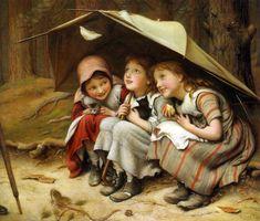 Joseph Clark (1834-1926)  Three Little Kittens