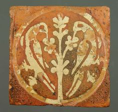 Medieval floor tile from Tintern Abbey