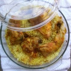 Kabsa in the oven