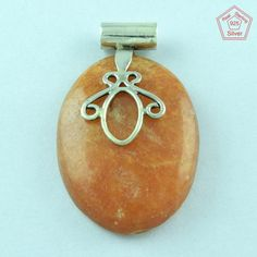 AMAZING DESIGN !! Agate Stone Fine Jewelry 925 Sterling Silver Pendant P2379 #Handmade #Pendant