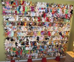 Everyone had a beanie baby collection at some point..Id say this is rather impressive..plus I love the way they are displayed