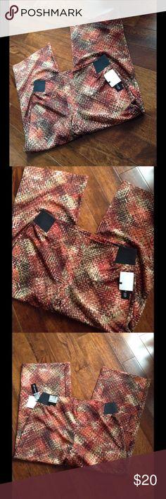 SOHO Apparel LTD. Fabric Designed Stretch Pants Stretch waistband on ends Soho Apparel Pants