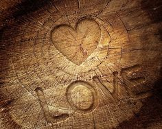 wooden heart of love