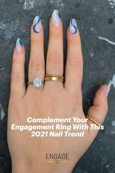 Featuring the Meteor Halo-Style Engagement Ring from Engage Jeweler. #engagementring #diamondring #diamond #haloengagementring #whitegold #platinum #yellowgold #rosegold #emeraldcut #2021nailstrends #styletrends #manicure #retronails #bluenails #nailtrends #womensfashion #jewelrytrends #finejewelry #goldjewelry #goldrings #proposalplanning #engagementinspiration #weddingplanning #engagementphotos #bridetobe #marriageproposal Emerald Cut Engagement, Diamond Engagement Rings, Engagement Inspiration, Marriage Proposals, Blue Nails, Nail Trends, Jewelry Trends, Summer Nails, Engagement Photos