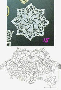 Irish Crochet Patterns, Crochet Snowflake Pattern, Crochet Doily Diagram, Crochet Mandala, Doily Patterns, Crochet Chart, Thread Crochet, Crochet Motif, Crochet Doilies