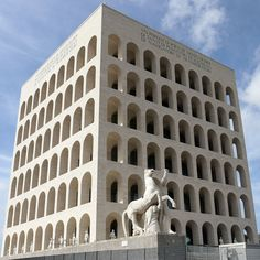 #ExpoStory #EUR, #Roma, 1942 Many references to ancient and imperial #Rome were planned for the Expo1942, such as the building of the Palazzo della Civiltà Italiana as a cubic #Colosseum #Expo2015