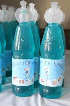 """Free, LMAAP- Frozen Party """"Glacier Juice"""" FREE Printables printable coloring book pages, connect the dot pages and color by numbers pages for kids. Elsa Birthday Party, Olaf Party, Olaf Birthday, Frozen Birthday Theme, Frozen Themed Birthday Party, Fourth Birthday, 6th Birthday Parties, Birthday Party Decorations, Frozen Themed Snacks"""
