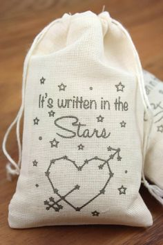 written in the stars wedding favor bags by 1pixieplace