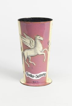 Volks-Zeitung Vase, Designed by Hilda Jesser (Austrian, 1894-1985); Austria, ca. 1932. Enameled copper; Gift of Daniel Morris and Denis Gallion, 1993-134-16  The People's Vase | Cooper Hewitt, Smithsonian Design Museum