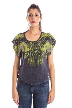 T-Shirt Donna Lavand. (BO-AW12-MAR-44 GREEN) colore Blu