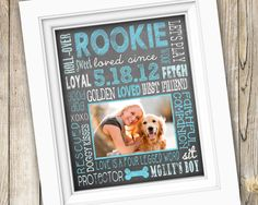 Dog Lover Gift ~ Personalized Custom Printable Photo Subway Art ~ Digital Image JPEG ~ New Puppy Rescue Pet by SubwayStyle on Etsy