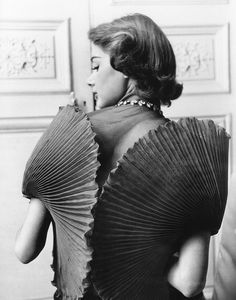 Jacqueline Marsel in a dress by Elsa Schiaparelli    photo by Regina Relang, 1951