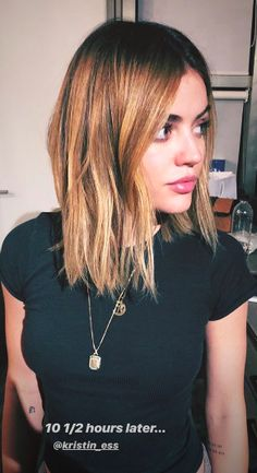 Lucy Hale's New Blonde Hair Took Nearly 11 Hours to Do Lucy Hale Debuted Blonde Hair Lucy Hale Blonde, Lucy Hale Short Hair, Blonde Hair Shades, Brown Hair With Blonde Highlights, Lucy Hale Haircut, Modern Bob Hairstyles, Lucy Hale Hairstyles, Blonde Hairstyles, Haircut Images