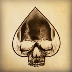 Skull Ace of Spades Tattoo by Junkiz_art
