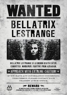 Harry Potter (Bellatrix Wanted) Movie Poster Masterprint at AllPosters.com