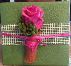 Another beautiful embellishment for a gift.
