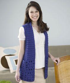 Bamboo Wool Vest Crochet Pattern   Red Heart