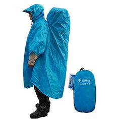 Hiking Camping Raincoat Backpack Cover Poncho -- Trust me, this is great! Click the image. : Backpacking gear