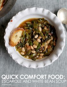 Whether it's for lunch or a tie over between meals, white bean soup is always a healthy meal option.