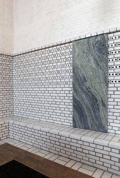 Johan Celsing - Årsta church, Stockholm Photos (C) Ioana. Contemporary Architecture, Architecture Details, Interior Architecture, Interior And Exterior, Glazed Brick, Brick Detail, Brick Facade, Amazing Buildings, Brick And Stone