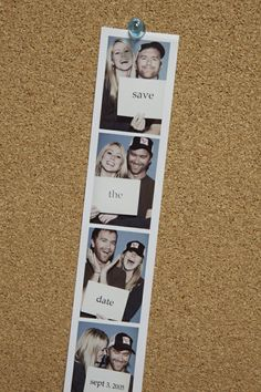 cute engagement photo/save the date in photo booth form