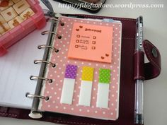 make your own laminated divider for postits