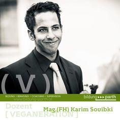 """Mag.(FH) Karim Souibki  Mag.(FH) für wirtschaftsberatende Berufe, Autor von """"Gesund und Attraktiv aussehen"""", youtube Channel Betreiber, """"Skype Coach""""...  Modulleiter: + Gesundheitstipps im Alltag + Sport und Veganismus + Ionisierendes Wasser + Vegane Alternativen + Veganismus und die derzeitige Situation  Weitere Informationen: http://www.veganeration.at/  #karim #souibki #veganeration #sport #gesundheit #gesundheitstipps #veganismus #alltag"""