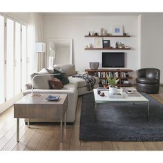 LIVING ROOM - Media cabinet option IF we work with plan #2 - Room & Board - Graham 60x18 24h Media Console