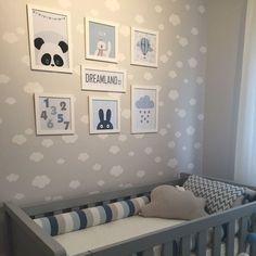 de Bebe tema Nuvem: Fotos e Ideias de Decoração - Leslie Flores- Baby Boy Room Decor, Baby Room Design, Baby Bedroom, Baby Boy Rooms, Baby Boy Nurseries, Baby Cribs, Nursery Room, Girl Room, Kids Bedroom