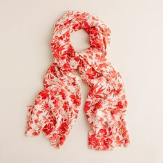 scarf, really like the red in this one