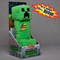 """Huggable 14"""" tall Creeper plush Squeeze to play the 'Hsssst, Boom' explosion sound Soft Plush Fabric For ages 3 year & over www.kidswoodentoyshop.co.uk"""