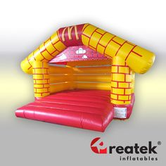Bouncy castles and inflatable moonwalks designed for companies and commercial use. Bouncy House, Bouncy Castle, Castles, Custom Design, Commercial, Branding, Outdoor Decor, Home Decor, Brand Management