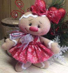 "Primitive HC Raggedy Gingerbread Doll Snowman Snowflake Christmas Winter 7"" CUTE #IsntThatCute #Winter"
