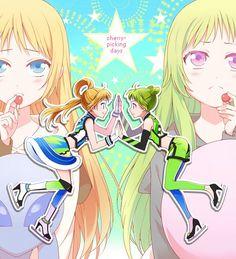 Ann and Wakana //Pretty Rhythm: Rainbow Live Rainbow Live, Anime Stories, Pretty Star, Pretty Cure, Manga Drawing, Manga Girl, Animal Crossing, Aurora, Mystic