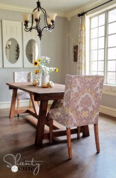 DIY Dining Room Table Projects - DIY Restoration Hardware Dining Table - Creative Do It Yourself Tables and Ideas You Can Make For Your Kitchen or Dining Area. Easy Step by Step Tutorials that Are Perfect For Those On A Budget http://diyjoy.com/diy-dining-room-table-projects