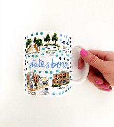 Statesboro Map Mug