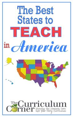 The Best States to Teach in America review by The Curriculum Corner