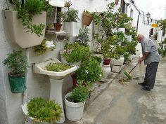 Jardineras de artefactos sanitarios