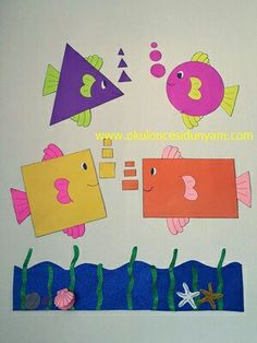 Preschool and Homeschool Preschool Classroom Decor, Kindergarten Art Projects, Preschool Crafts, Preschool Shapes, Animal Crafts For Kids, Art For Kids, Construction Paper Crafts, Creative Activities For Kids, Art Drawings For Kids