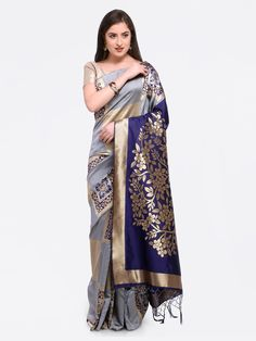 Buy Hug Collection of sarees Like Designer Saree,Wedding Sarees,Cotton Sarees,Party wear Saree and More For All Occasion And Festival, Shop Now Get Discount Up to Off Cash On Delivery Available ! Grey Saree, Kimono Top, Sari, Tops, Women, Fashion, Saree, Moda, Fashion Styles