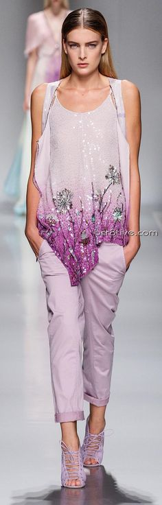 Blumarine  Spring Summer 2013 Ready-To-Wear Collection ♥ The top AND the color ♥