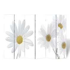 Room Divider Print 240 x 180 Flower. It gives the chance to actualize your design ideas, and split a room into different areas in a very decorative manner. This room-divider is printed double-sided with a different print. Portable Room Dividers, Folding Room Dividers, 4 Panel Room Divider, Shoji Screen, Modernisme, Flower Room, Folding Furniture, Furniture Decor, Home Decor Outlet